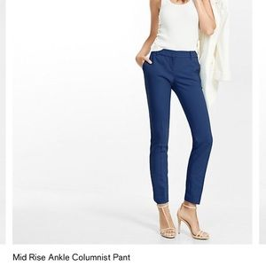 NWT Express Columnist Mid Rise Ankle Pant - Blue